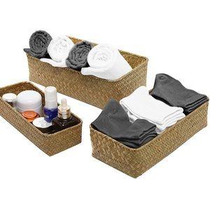 Medium Seagrass Baskets - Set of 3